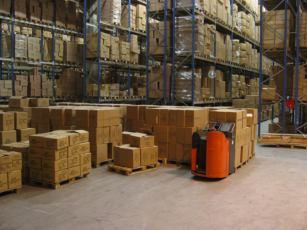 inside a warehouse
